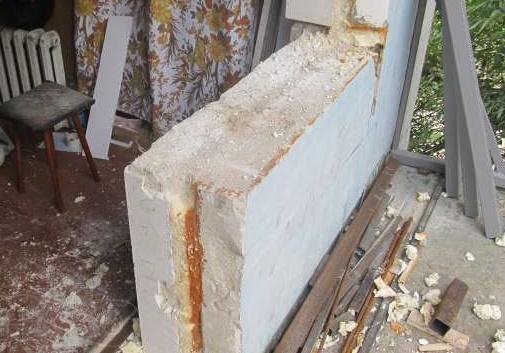 Демонтаж балконного блока.